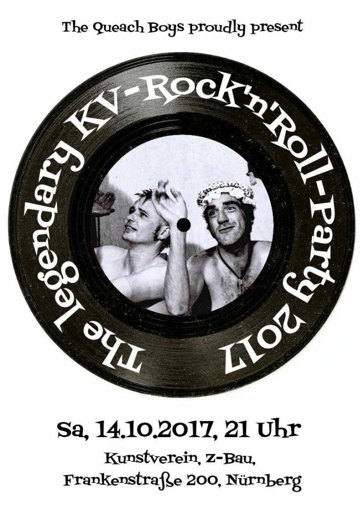 Flyer zur KV-Rock'n'Roll-Party 2017